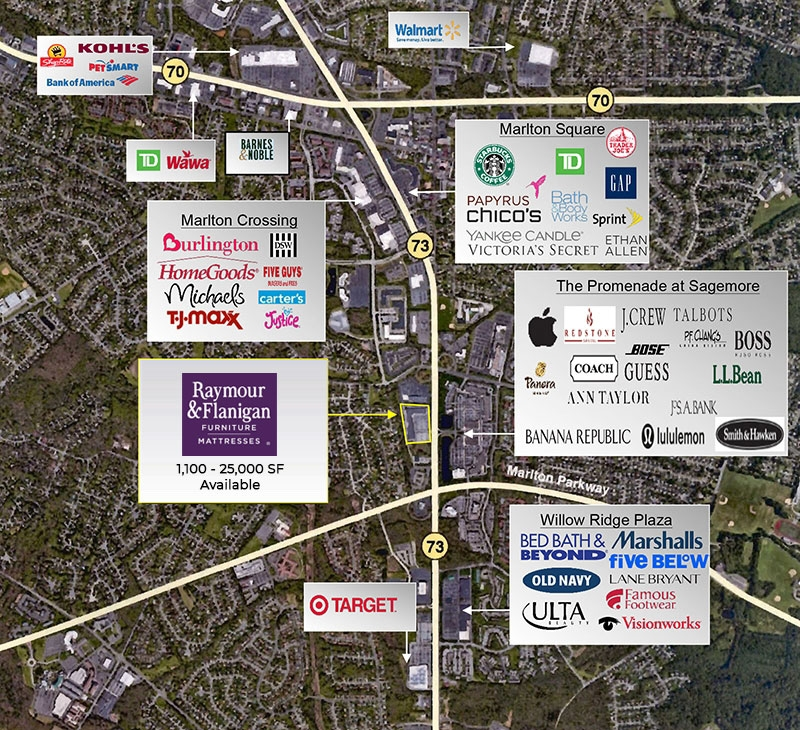 Available Retail Property Marlton Nj 08053 Raymour And Flanigan Real Estate