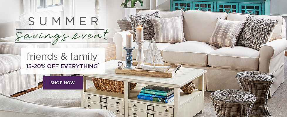 Summer Savings Event - 15-20% Off Living Rooms - Shop Now