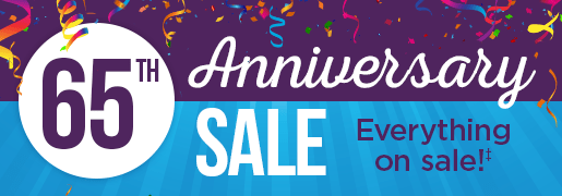 65th Anniversary Sale