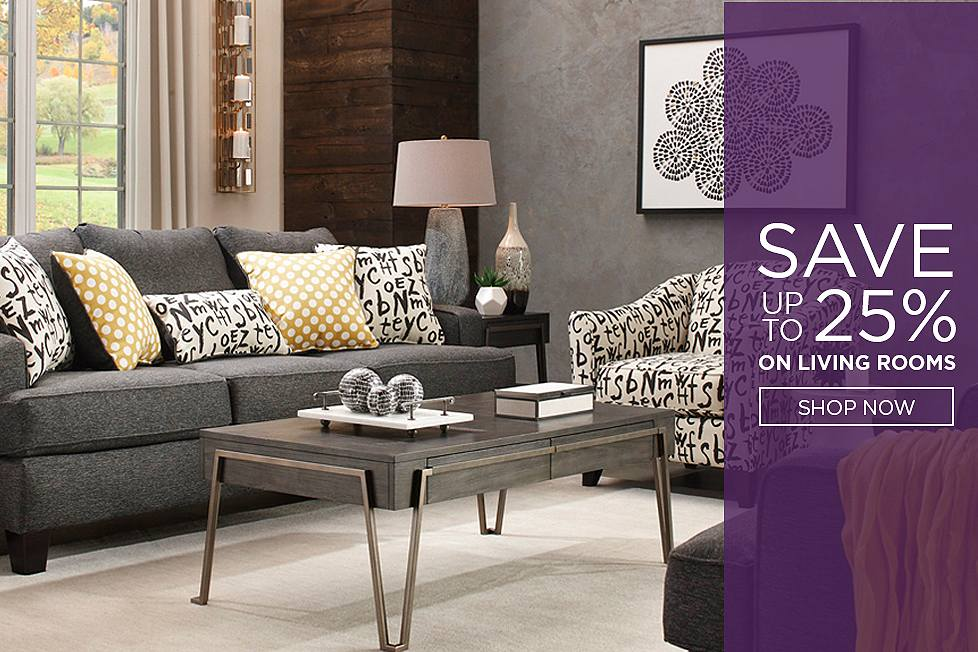 Save up to 25% on Living Rooms. Shop Now.