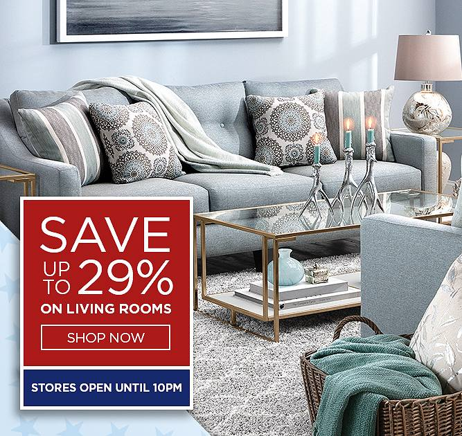 Save up to 29% on Living Rooms