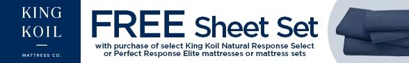 Free Sheet Set w/Purch of Natural Response Select OR Perfect Response Elite