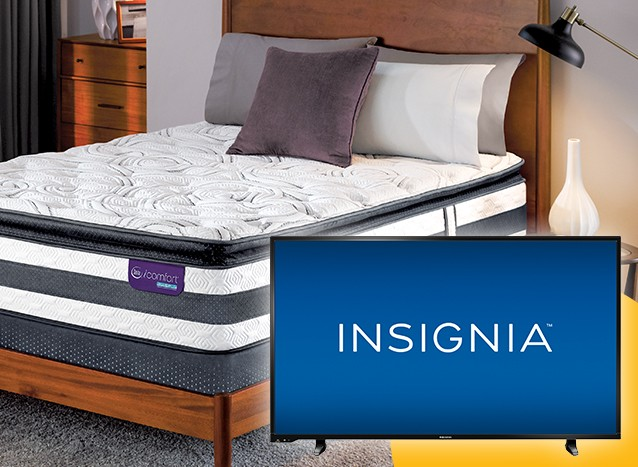 mattresses $1499 or more get you a free tv and hulu trial