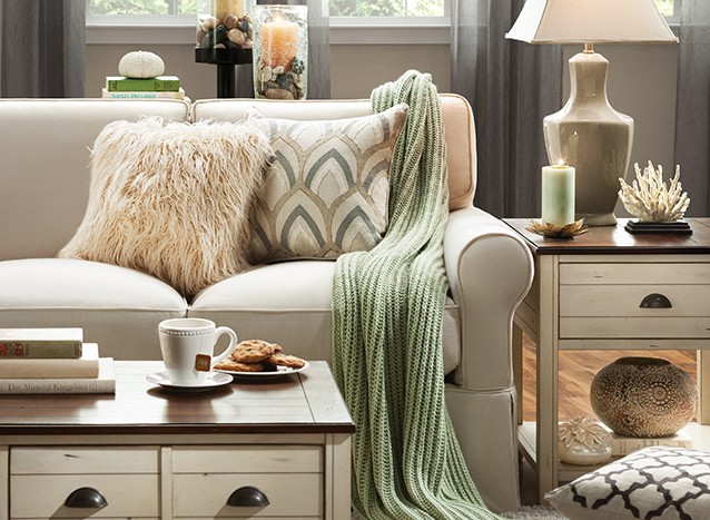 create comfort with cozy living