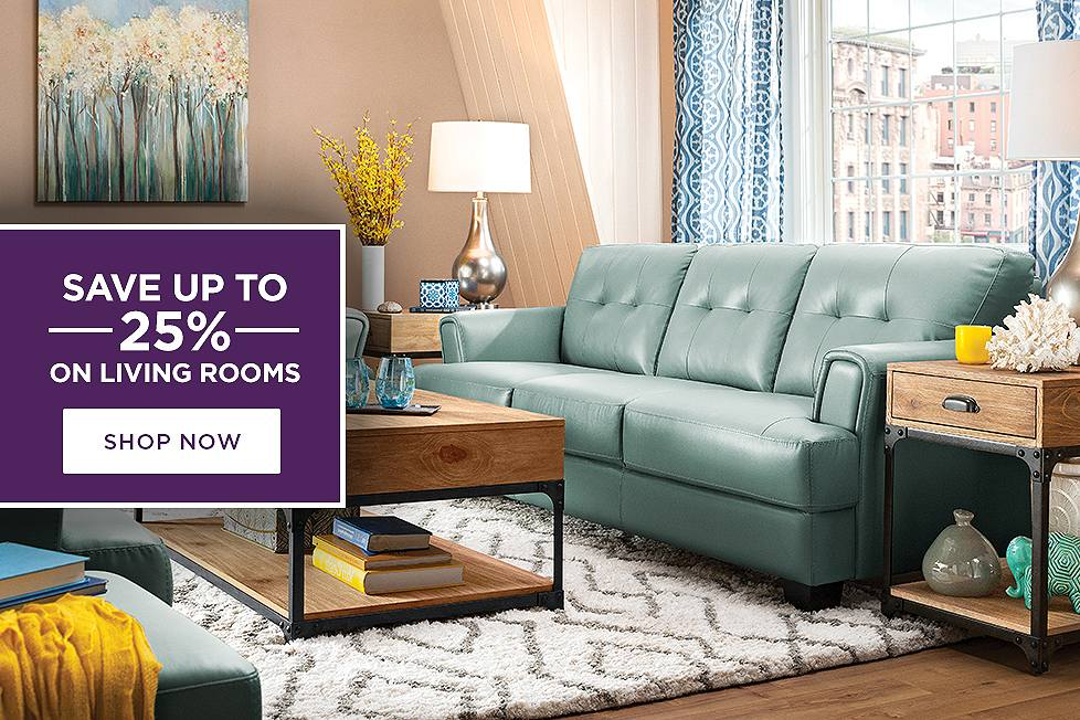 Save up to 25% on Living Rooms