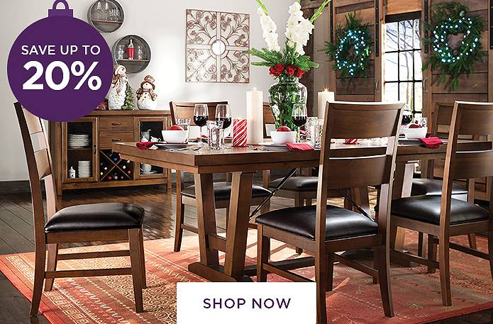Guaranteed Christmas Delivery<br/>Save up to 20% on Dining Rooms