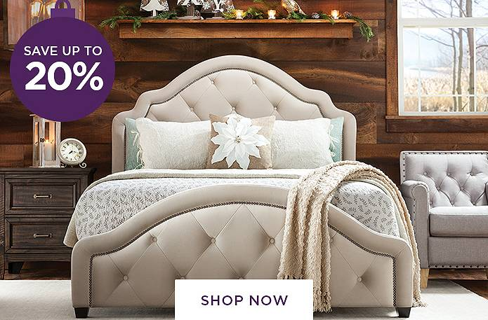 Guaranteed Christmas Delivery<br/>Save up to 20% on Bedrooms