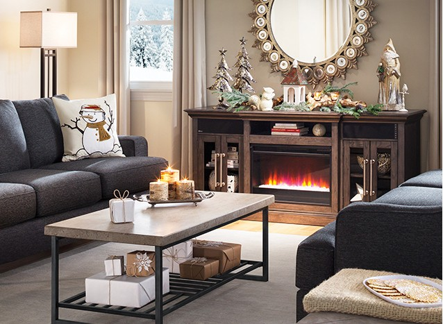 an electric fireplace lets you stay cozy in style