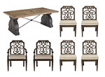 Arch Salvage 7-pc. Outdoor Dining Set w/ Arm Chairs