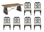 Arch Salvage Lyon 7-pc. Outdoor Dining Set