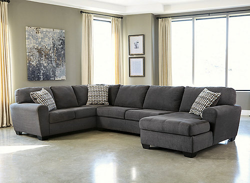 Francene 3 Pc Sectional Sofa Slate
