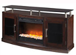 """Ruskin 60"""" TV Console w/ Electric Glass Fireplace"""