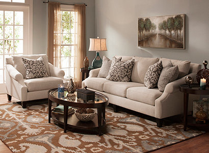 Anastasia Transitional Living Room Collection | Design Tips ...