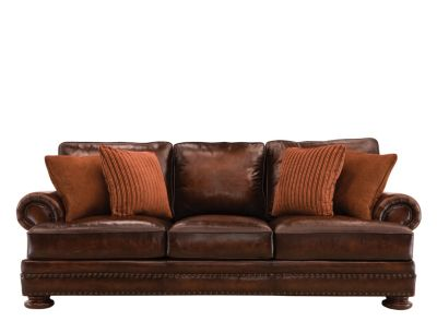 Foster Leather Sofa  sc 1 st  Raymour u0026 Flanigan : bernhardt van gogh leather sectional - Sectionals, Sofas & Couches
