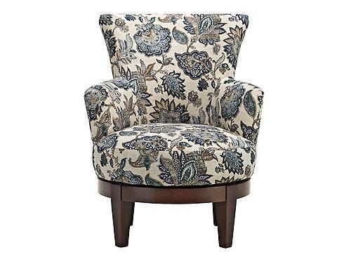 Lisbeth Swivel Accent Chair Blue Raymour Amp Flanigan