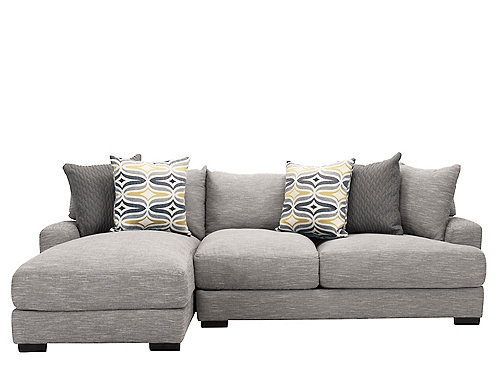 Leighton 2 Pc Sectional Sofa Fog
