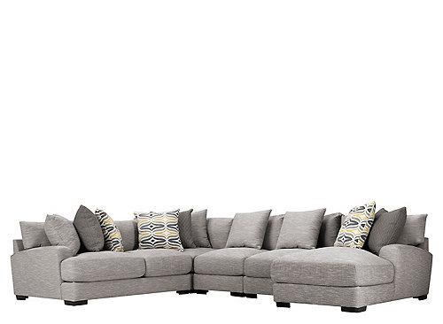 Leighton 5 Pc Sectional Sofa Fog