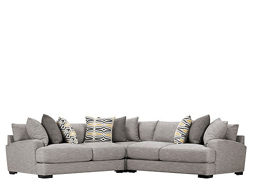 Leighton 3 Pc Sectional Sofa Fog