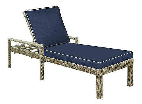 Bainbridge Outdoor Adjustable Chaise Lounge Indigo With