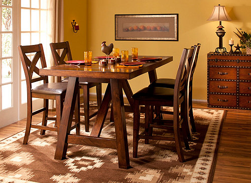 Royce 5 Pc Counter Height Dining Set