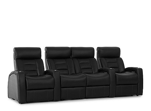 Odyssey 4-pc. Leather Power-Reclining Sectional Sofa ...