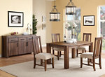 Middlefield 5-pc. Dining Set w/ Upholstered Chairs