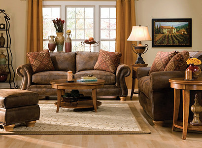 Canyon Ridge Casual Microfiber Living Room Collection | Design Tips & Ideas  | Raymour and Flanigan Furniture - Canyon Ridge Casual Microfiber Living Room Collection Design
