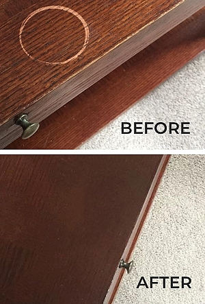 Before and After Coffee Table