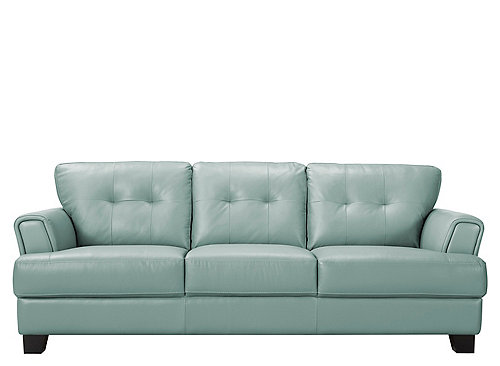 Benson Leather Sofa Sea Raymour