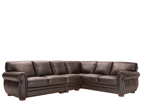 Marsala 3 Pc Leather Sectional Sofa