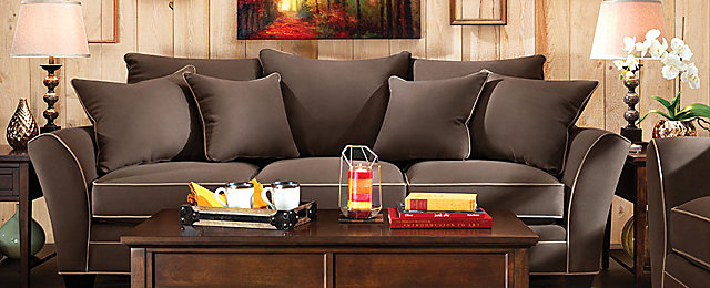 Briarwood Contemporary Microfiber Living Room Collection