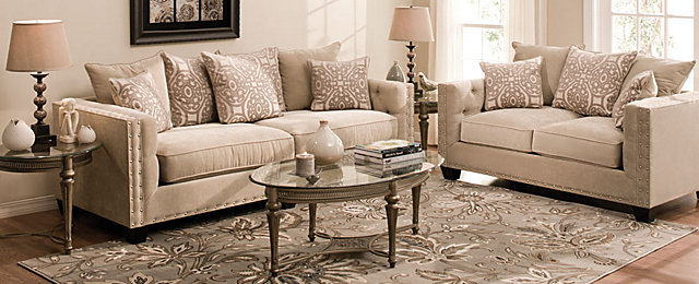 Cindy Crawford HomeR Calista Contemporary Living Room Collection