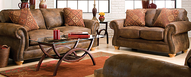 Canyon Ridge Casual Microfiber Living Room Collection | Design Tips U0026 Ideas  | Raymour And Flanigan Furniture