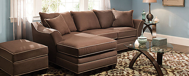 Foresthill Contemporary Microfiber Living Room Collection | Design Tips u0026 Ideas | Raymour and Flanigan Furniture : raymour and flanigan sectionals - Sectionals, Sofas & Couches