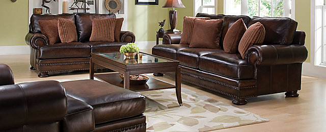 Foster Traditional Leather Living Room Collection
