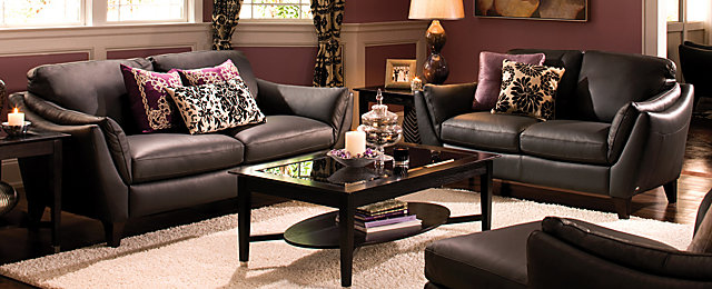 Greccio Contemporary Leather Living Room Collection | Design Tips U0026 Ideas |  Raymour And Flanigan Furniture