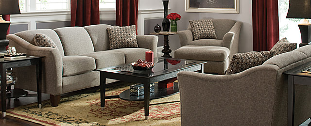 Meyer Contemporary Chenille Living Room Collection | Design Tips & Ideas |  Raymour and Flanigan Furniture - Meyer Contemporary Chenille Living Room Collection Design Tips