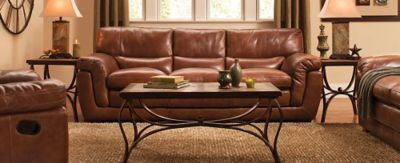 Stevens Contemporary Leather Living Room Collection Design Tips