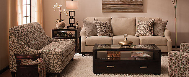 Raymour And Flanigan Living Room Sets | Anastasia Transitional Living Room Collection Design Tips