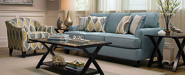 Willoughby Contemporary Living Room Collection