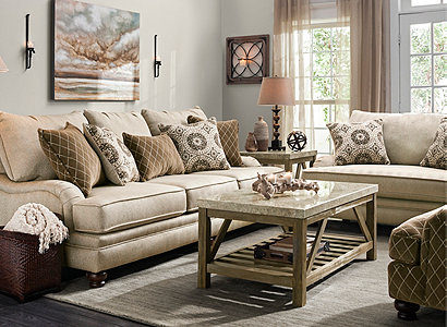 Claudella Transitional Living Room Collection | Design Tips ...