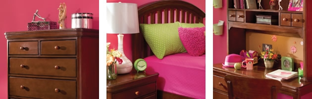 What Little Wouldn T Love This Pink And Lime Green Bedroom Sticking With The Middle Tiers Of Color Wheel Complementary Room Looks Like A
