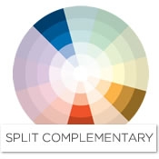 To find the split complement of blue, look to the left and the right of its  complement, orange. In the case of blue, the split-complementary scheme  would ...