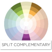 To Find The Split Complement Of Purple Look Left And Right Its Yellow In Case Complementary Scheme Would