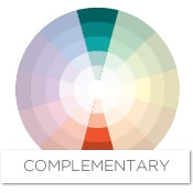 These colors complement each other, adding interest and energy to a room.  Looking at the color wheel, you can see that the complement of turquoise is  ...