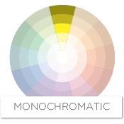 It uses tints and shades of one color, staying within the same column on  the color wheel. A monochromatic scheme for yellow might feature a range of  tones ...