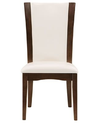 White Goes With Everything. Just Look At The Stunning Contrast Between This  Chairu0027s Upholstery And Dark Wood Tone!