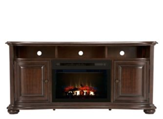Henderson 66 Tv Console W 25 Electric Log Fireplace