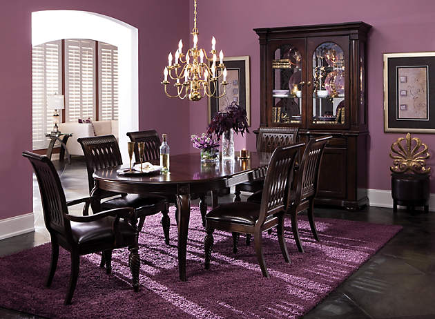 If You Want A Dining Room That Oozes Elegance Try This Lavish Monochromatic Color Palette Deeper Purples Are The Stars Of And Theyre Perfect