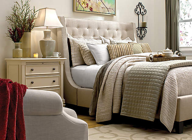 Shop This Room: Button Tufted Headboard »